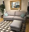 Maine svängd soffa